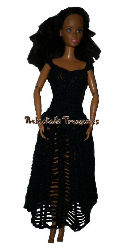 Crochet Barbie Dress Free Pattern | crochet for barbies | Pinterest ...