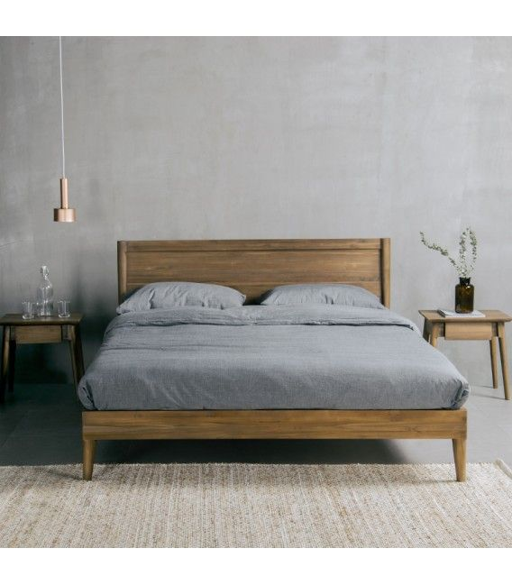 Vintage Bed Frame, European Queen Bed Frame