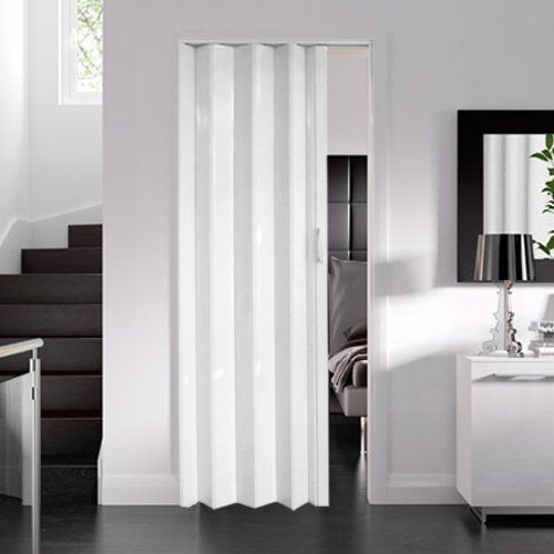 Dynasty Internal Pvc Concertina Folding Door White Gloss 6mm Thick Bamboo Room Divider Fabric Room Dividers Wooden Room Dividers