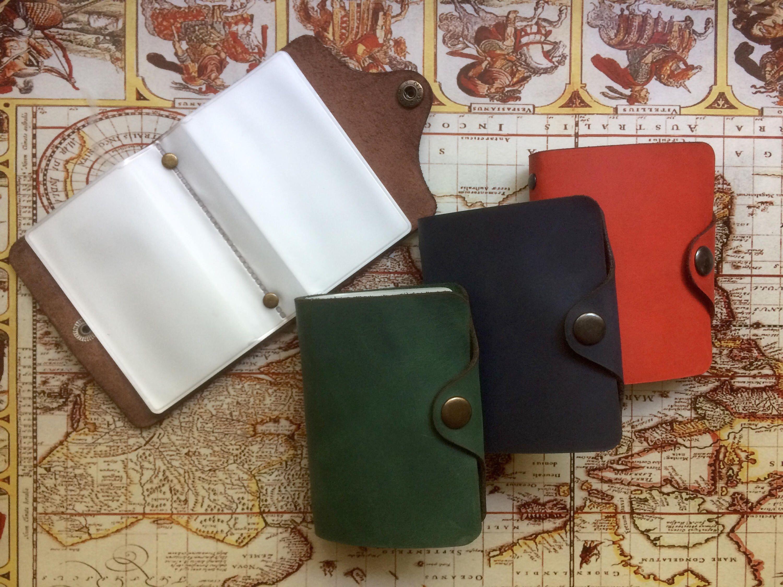 Leather cardholder, ID walet, Card holder, Business card case ...