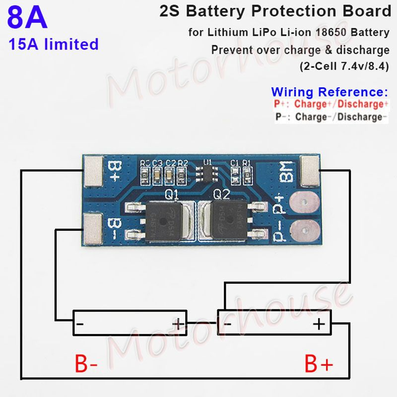 1 15 Gbp 2s 8a 7 4v 8 4v Lithium Lipo Cell Li Ion Bms Battery 18650 Protection Pcb Board Ebay Electronics Computer Battery Lipo Battery