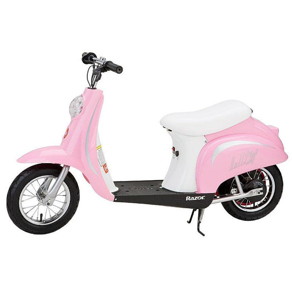 Retro Electric Scooter Pink Vintage Vespa Rechargeable Collectors Gifts For Her RetroElectricScooter