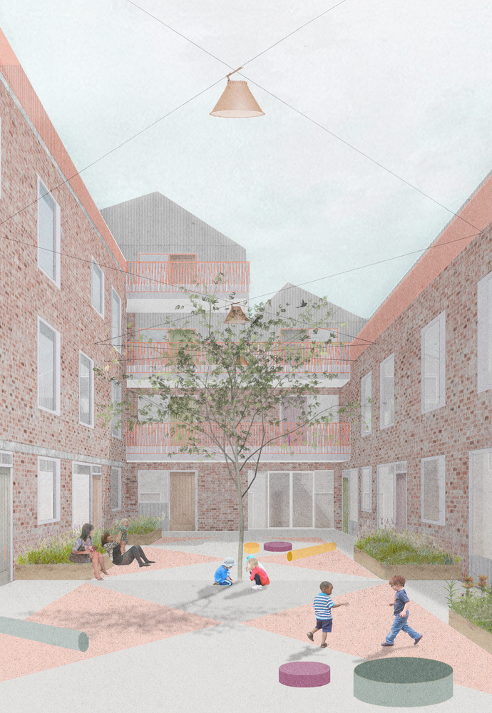 Gallery Of An Emergency Housing Complex And A Museum In Helsinki 7 Unbuilt Projects Submitted By Our Readers 36 Landscape Architecture Graphics Landscape Architecture Perspective Landscape Architecture Plan