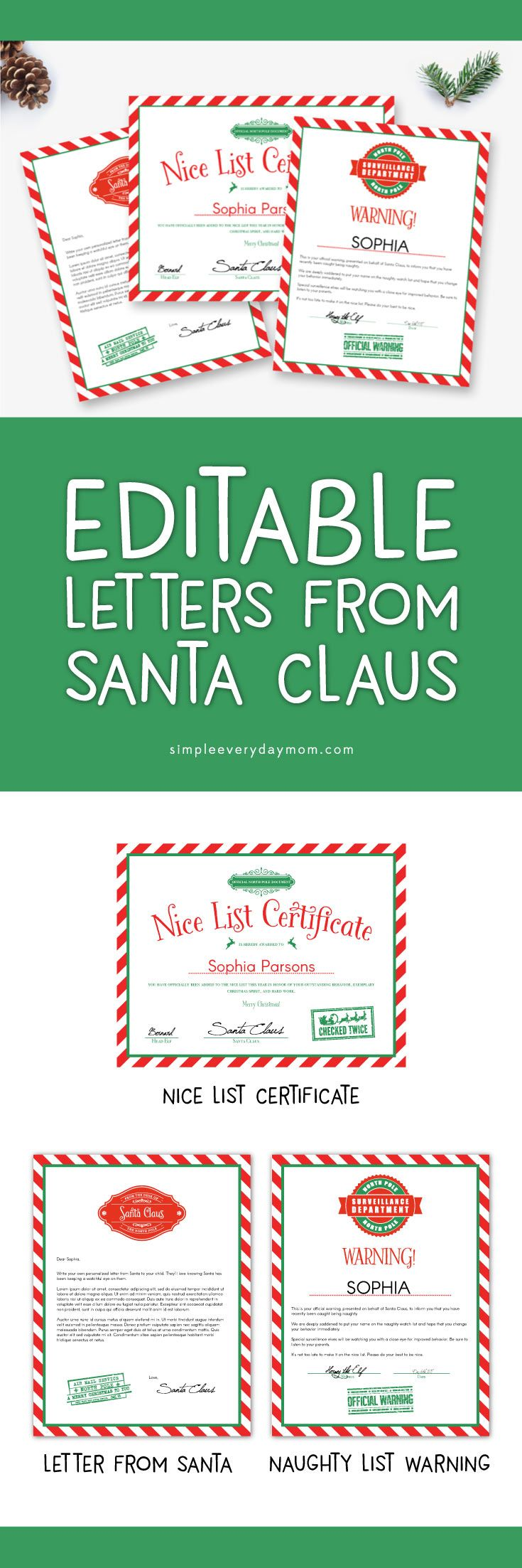 Printable Letters From Santa. Download By SizeHandphone Tablet ...