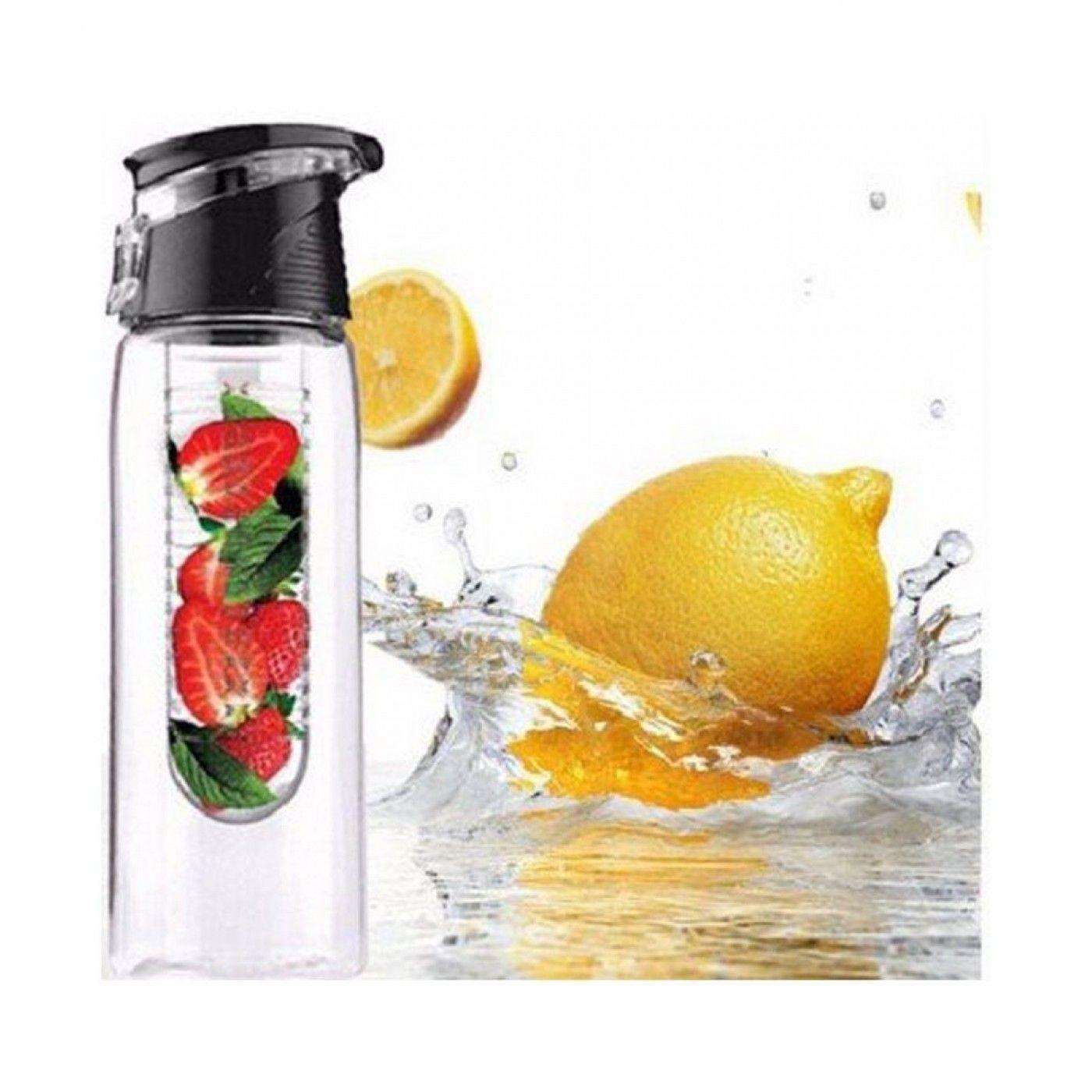 NEW CITRUS DRINK WATER INFUSE LEMON JUICE FLAVORED MAKER BPA FREE SPORTS BOTTLE