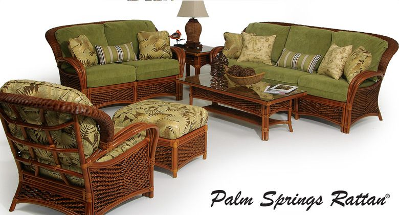 Palm Springs Rattan Sunroom Furniture The Print On This