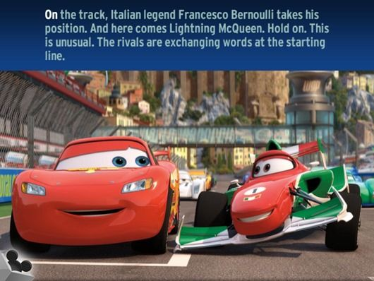 cars 2 read race is an interactive story based on the disney movie