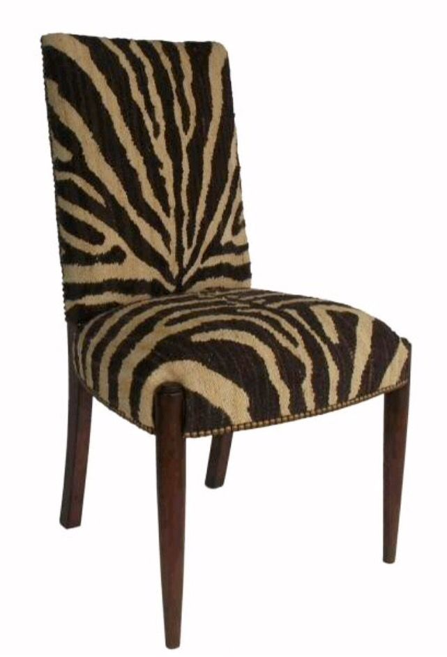 Aubusson Zebra Dining Side Chair Dining Chairs Upholstered