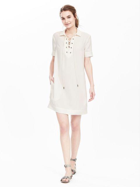 13 Little White Dresses That Ll Get You Through Summer S Hottest Days Petite Shirt Dress Dresses Little White Dresses