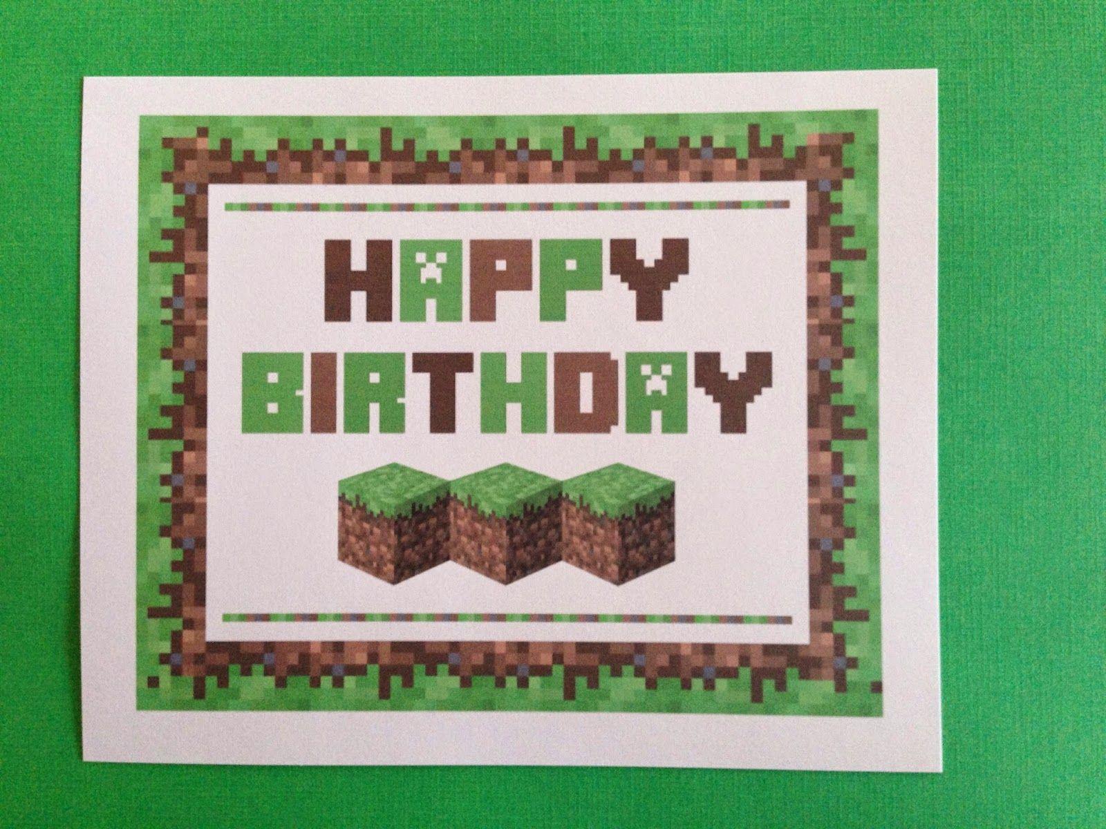 Minecraft birthday border minecraft