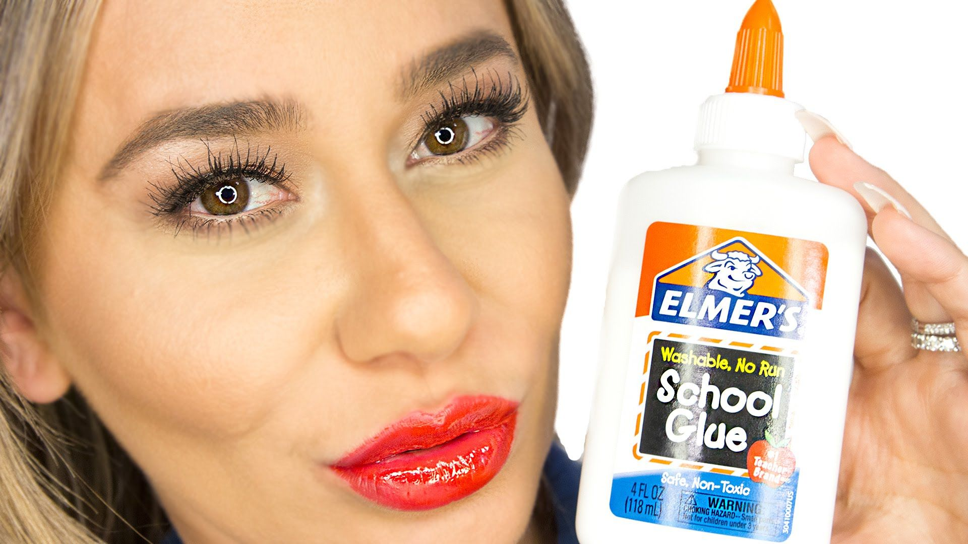They made a lip stain out of glue and food coloring! Gotta try this ...