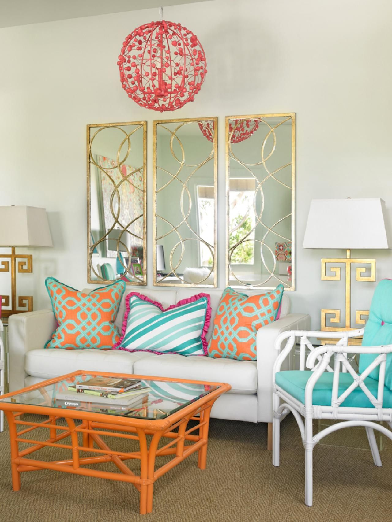 Turquoise sofa contemporary living room katie rosenfeld design - Room Colors