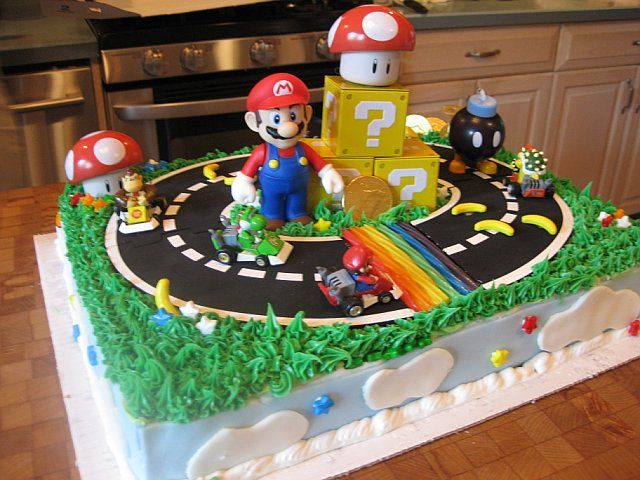 Super Mario Cake With Images Mario Birthday Cake