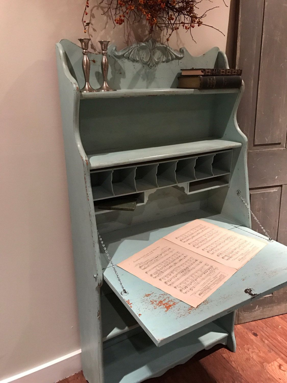 Larkin Secretary Desk Hand Painted Vintage Antique Local Delivery ...