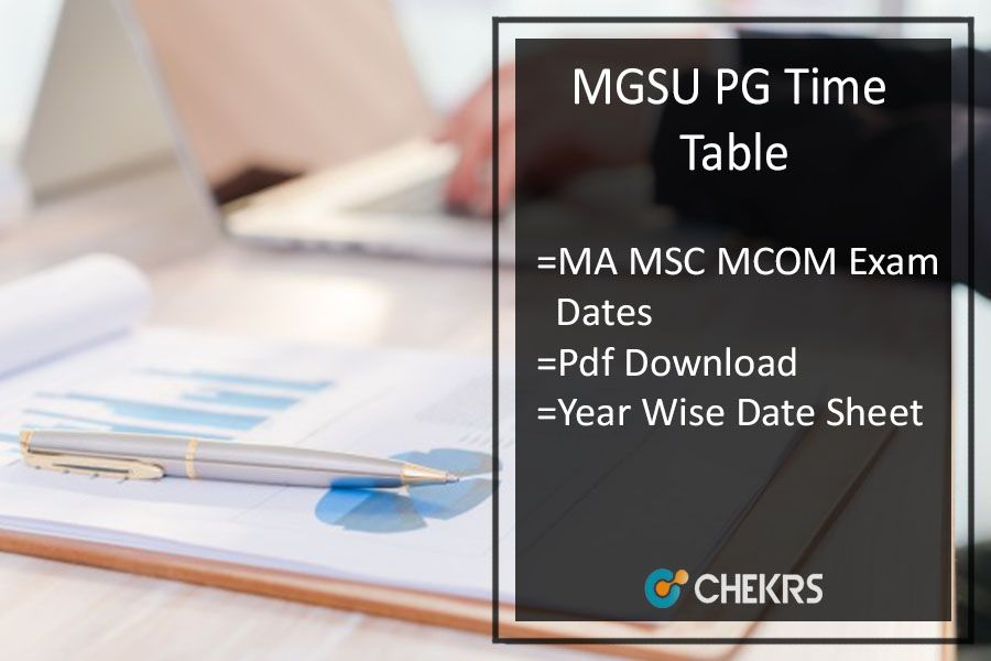 Mgsu Time Table 2019 Ma Msc Mcom Previous Final Date Sheet With