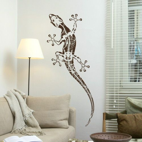 Gecko Reptile Transfer Large Lizard Art Decor Big Reptile Wall Sticker An7 Ebay Reptile Room Reptile Decor Gecko