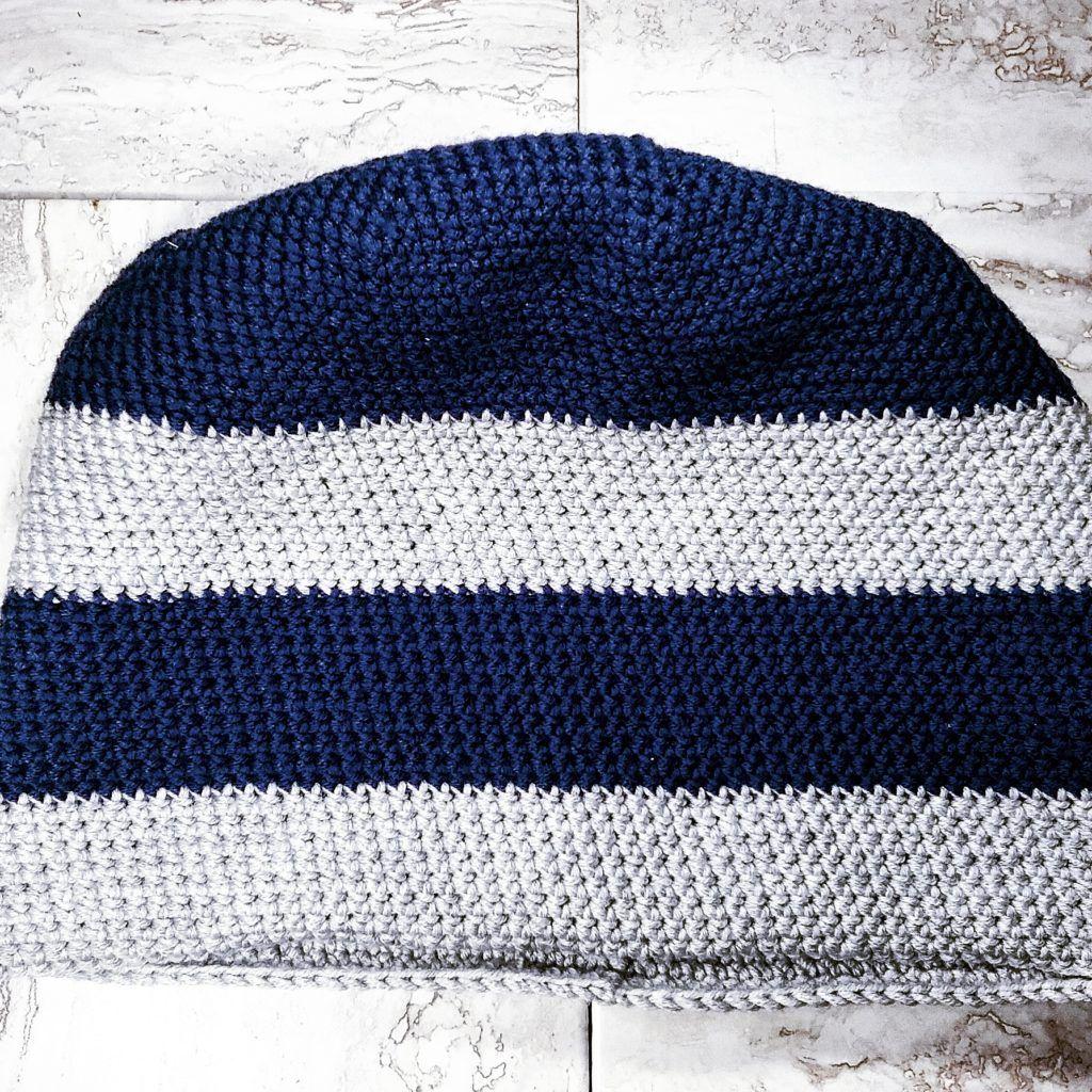 mens striped toque free crochet pattern tangled co - Hakelmutzen Muster