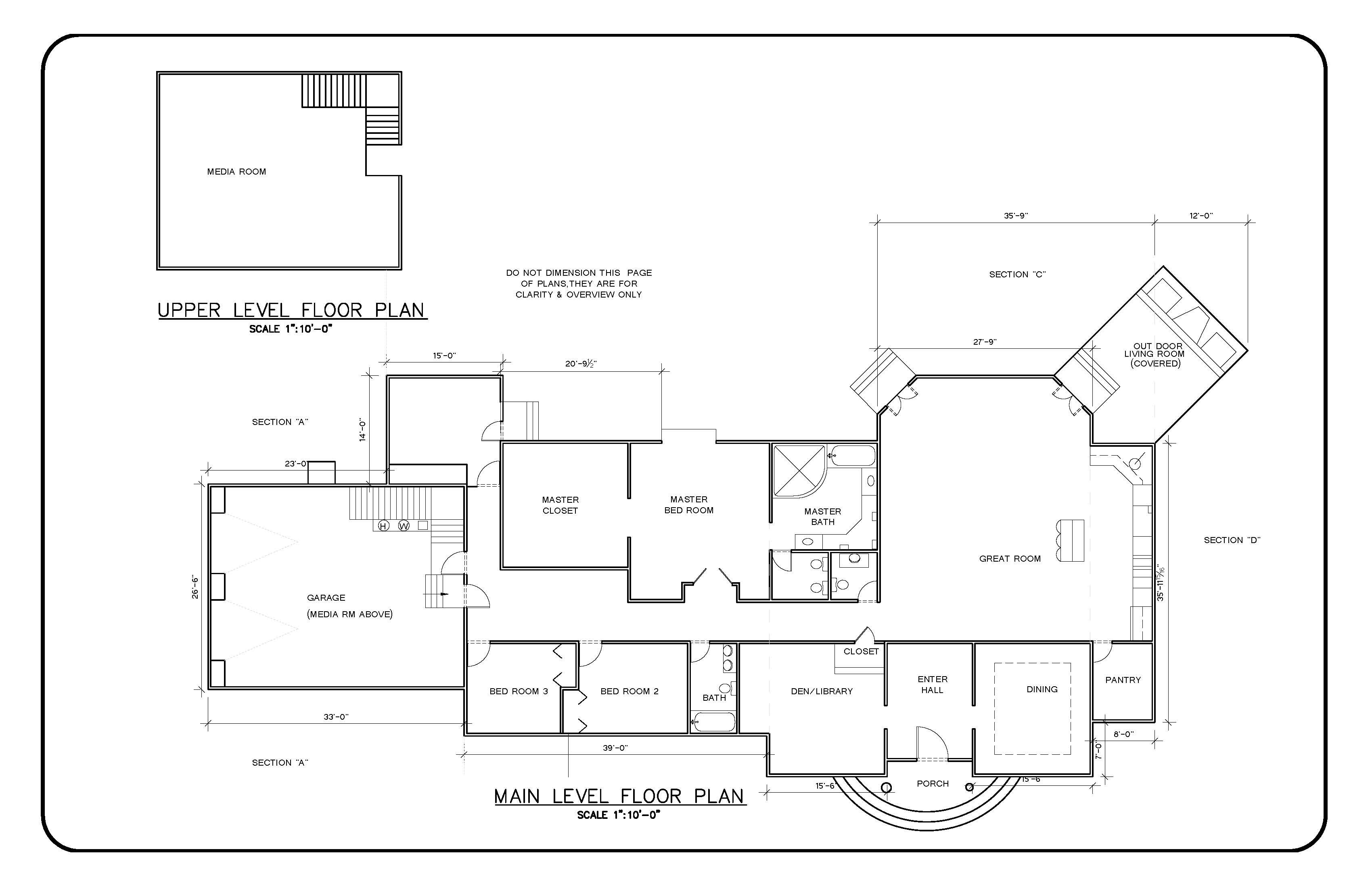 architectural floor plan architectural drawings