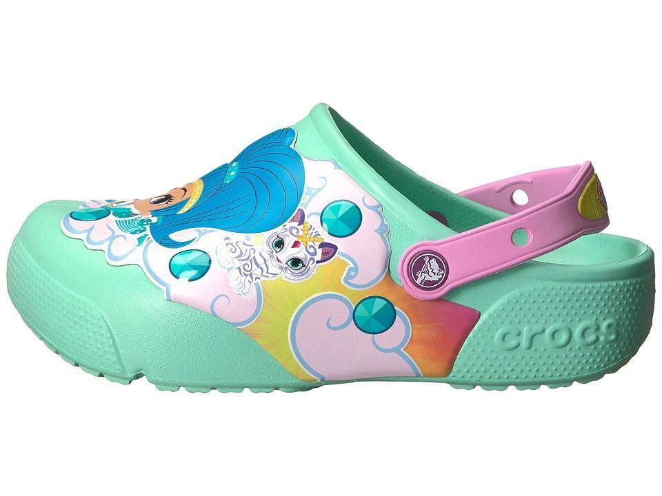 0cd25548f1f29 Crocs Kids Fun Lab Shimmer Shine Lights Clog (Toddler Little Kid) Girls  Shoes New Mint  clogs  Crocsclogshoes
