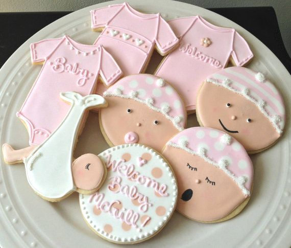 baby girl cookies baby shower cookies onesie cookies pink baby showers