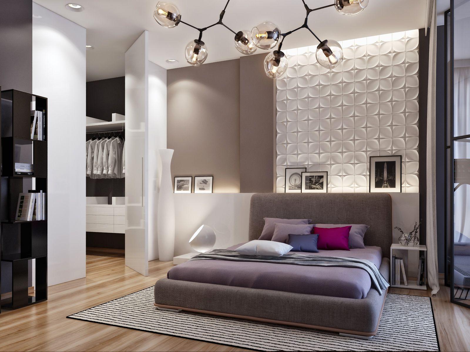 Modern Bedroom Design From A Home In Ukraine Luxurious Bedrooms Master Bedroom Interior Design Cool Lights For Bedroom