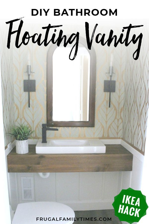 How To Build A Floating Wood Vanity For Less Than 30 An Ikea