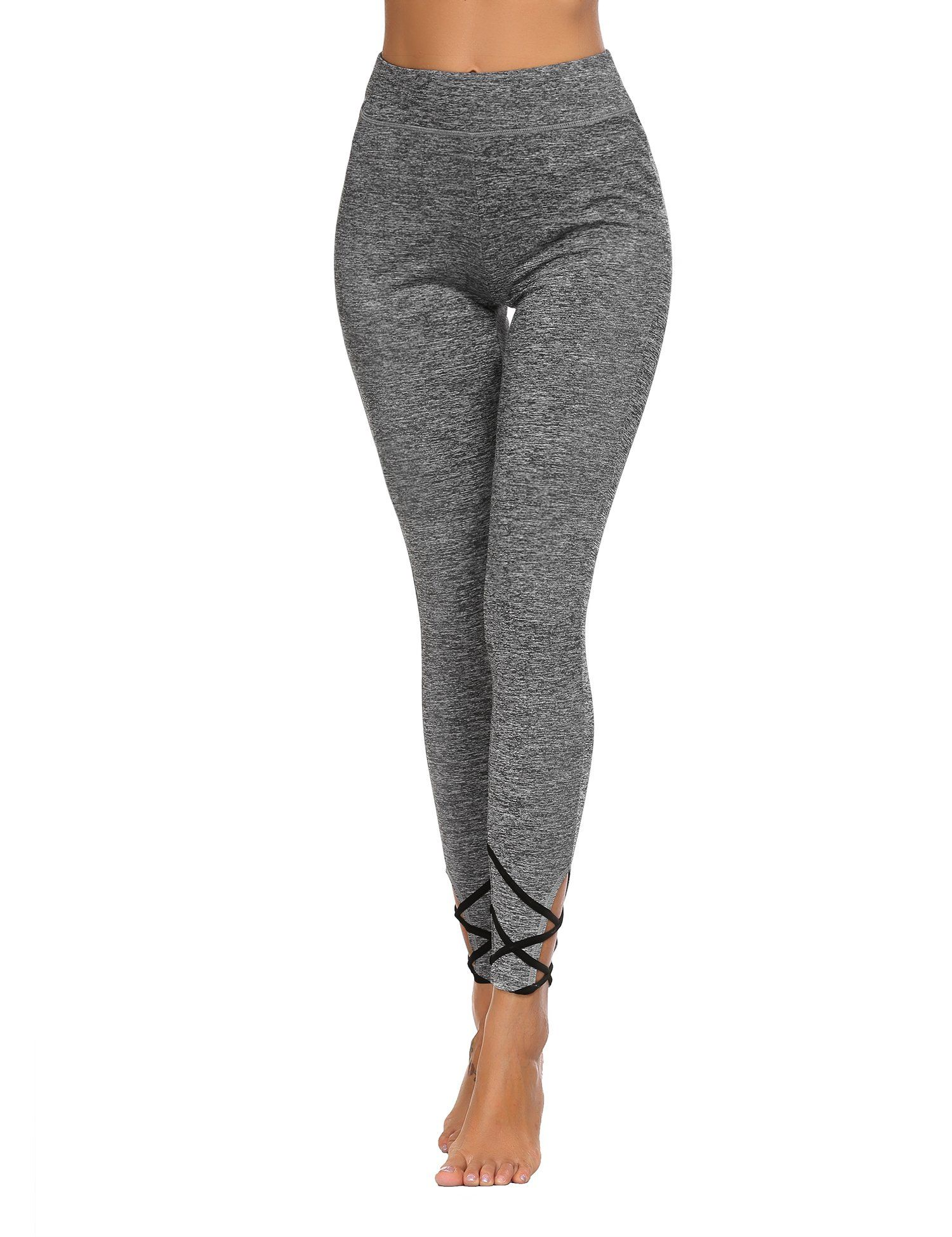 f31eef00b6822 Ekouaer Womens Yoga Pants Legging StringEnd Workout  Tights(Gray,Small) ** Check out this great product. (This is an  affiliate link)