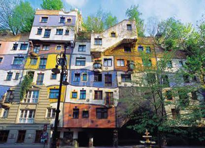 Hundertwasser architecture kunst haus wien museum hundertwasser architects to space pinterest for Hundertwasser architektur