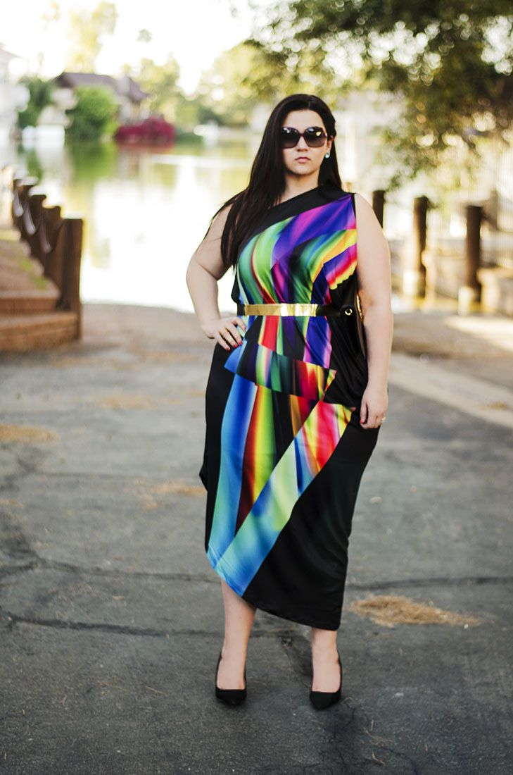 crystal coons rainbow dress bright colors how to wear bright