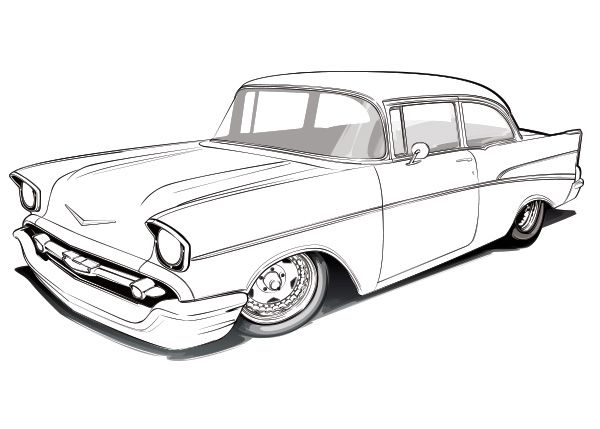 1957 Chevy Bel Air Drawings | Chevy\'s 55-57 | Chevy, Chevrolet bel ...