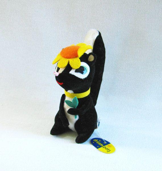 Vintage Dream Pet Skunk Dream Pet With Tag Stuffed Skunk