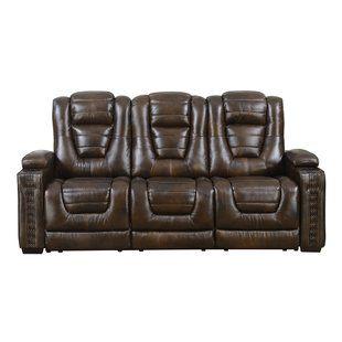 Magnificent Barnhart Dual Power Leather Reclining Sofa Red Barrel Creativecarmelina Interior Chair Design Creativecarmelinacom