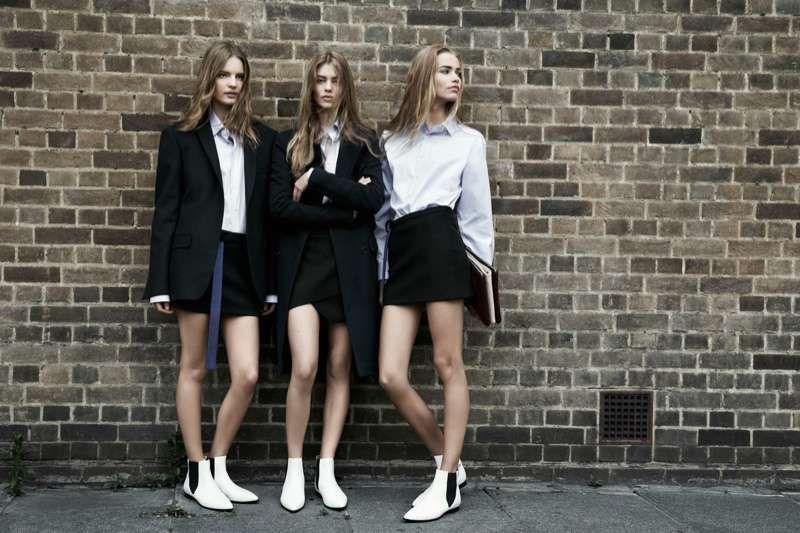 School Girl Grunge Fashion : Zara TRF Fall 2013