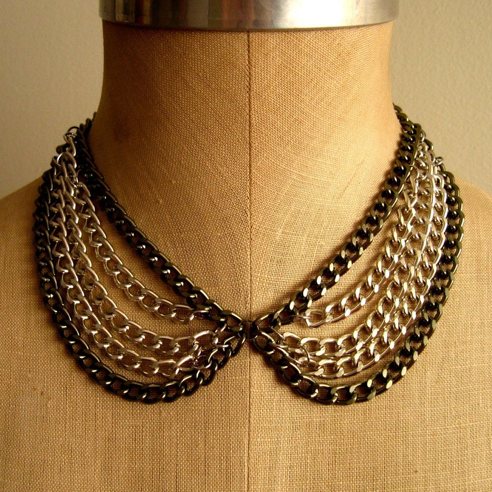Peter Pan Layered Collar Necklace. $40.00 USD, via Etsy.