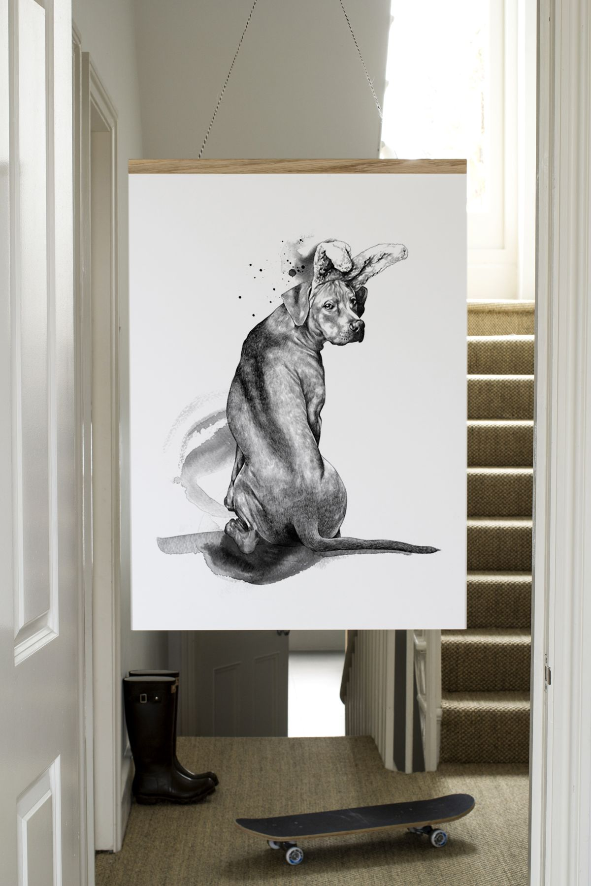 A NEW art print from www.onemustdash.com, 'Wannabee'