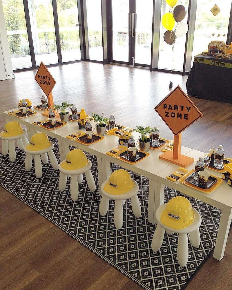 Construction Birthday Party Ideas In 2020 With Images Trucks Birthday Party Construction Birthday Parties Boy Birthday Party Themes