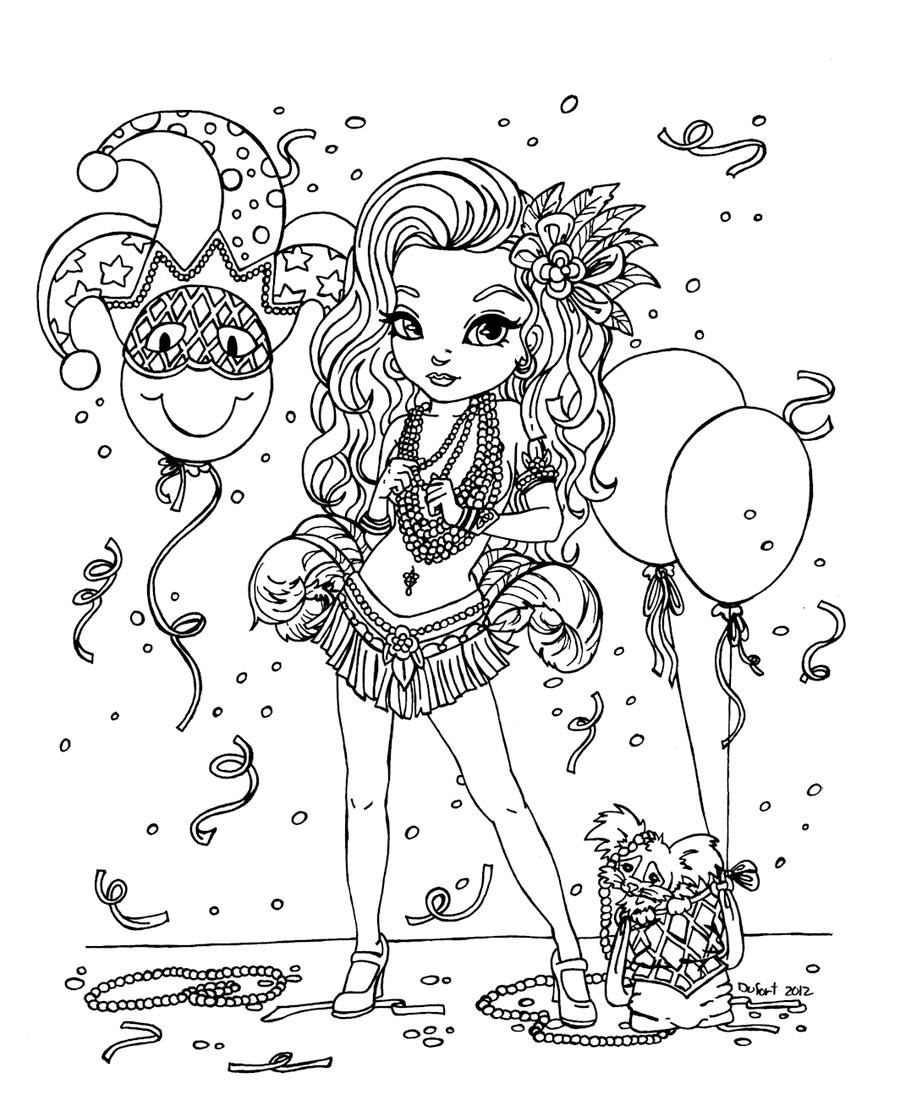 Mardi Gras by *JadeDragonne on deviantART | !My coloring pages ...