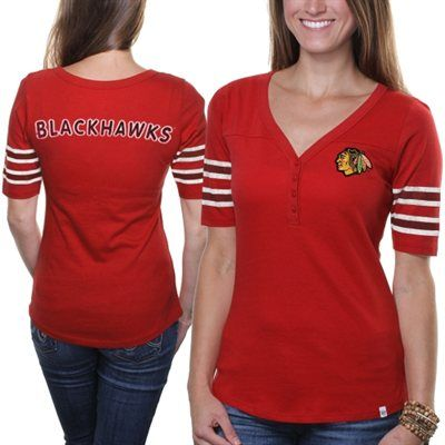 buy popular 1b689 ad1f9 47 Brand Chicago Blackhawks Ladies Playoff T-Shirt - Red ...