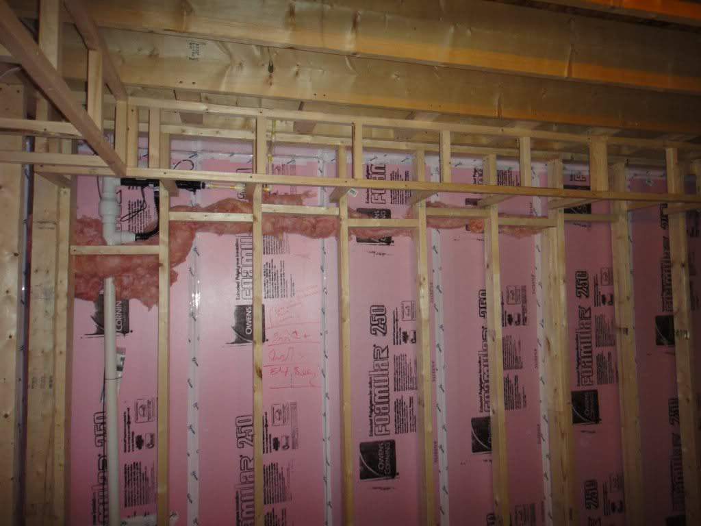How to fireblock framing leave a gap between foam sheets for What insulation to use in 2x6 walls