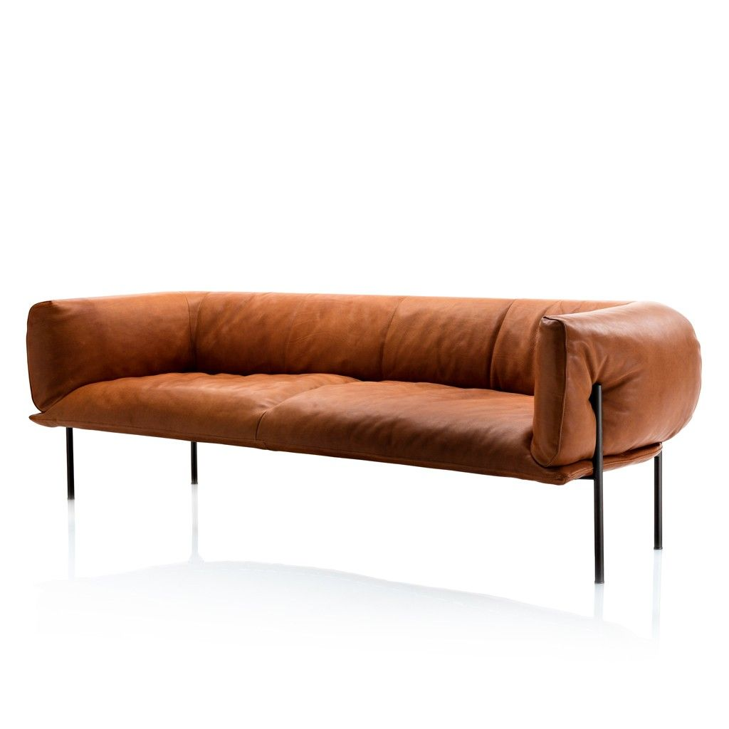 rondo sofa tan leather