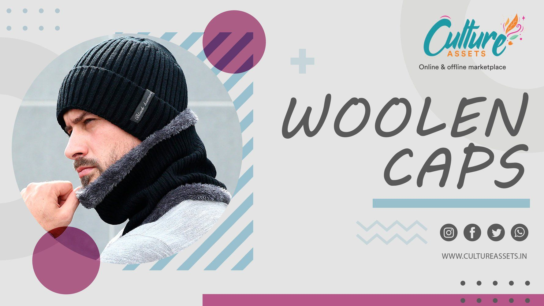 Shop Warm and Cozy woolen caps online on Culture Assets. . . . . #beanies #beanie #hats #beanieseason #fashion #beaniehat #handmade #m #hoodies #streetwear #clothing #dadhats #caps #snapback #beaniehatmurah #winter #crochet #snapbacks #kupluk #tshirts #hat #headwear #beaniemurah #beanieboos #beaniehats #embroidery #beaniestyle #apparel #beaniepolos