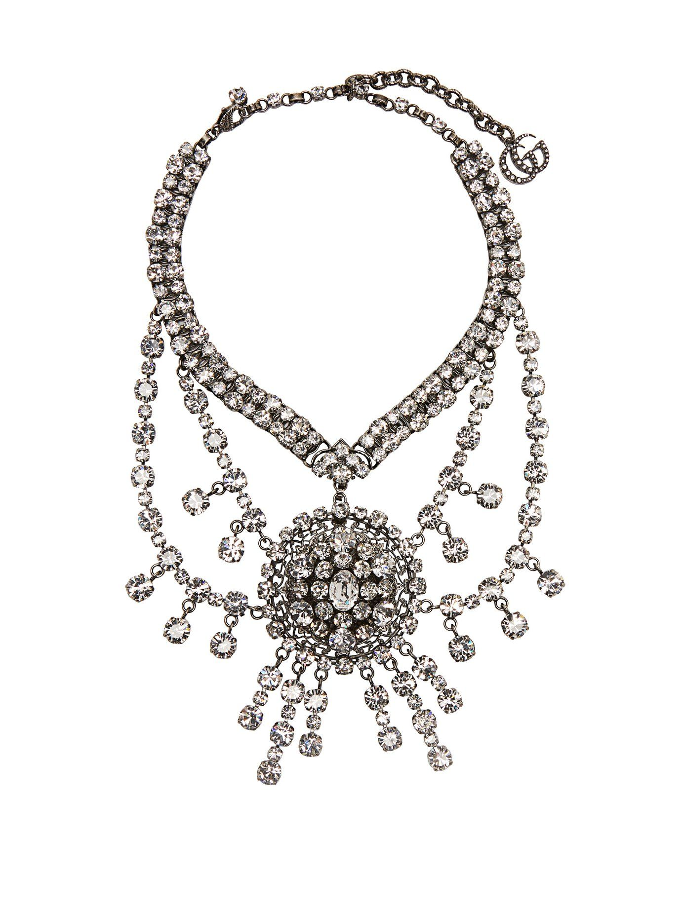 8caada7c0 Crystal-embellished statement necklace | Gucci Crystal Necklace, Women Wear