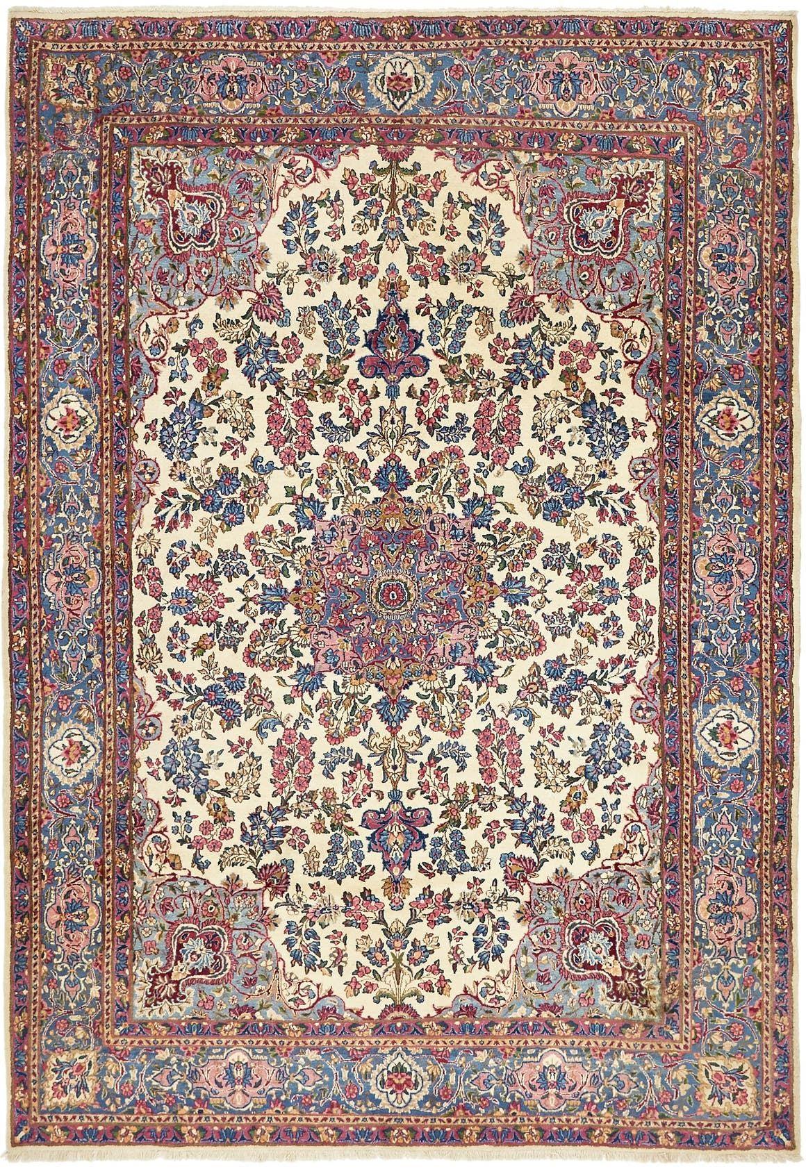 Kerman Cream 7x10 Area Rug In 2020 Kerman Rugs Antique Persian Carpet Persian Carpet