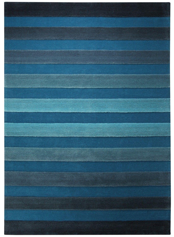 Tapis Salon Design Raye Cross Walk Bleu Tapis Tapis Bleu Tapis