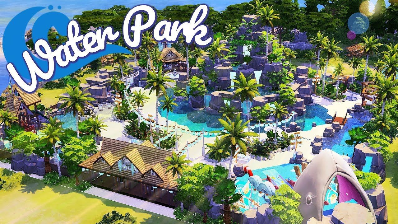 The sims 4 tropical water park speed build sims for Pool design sims 3