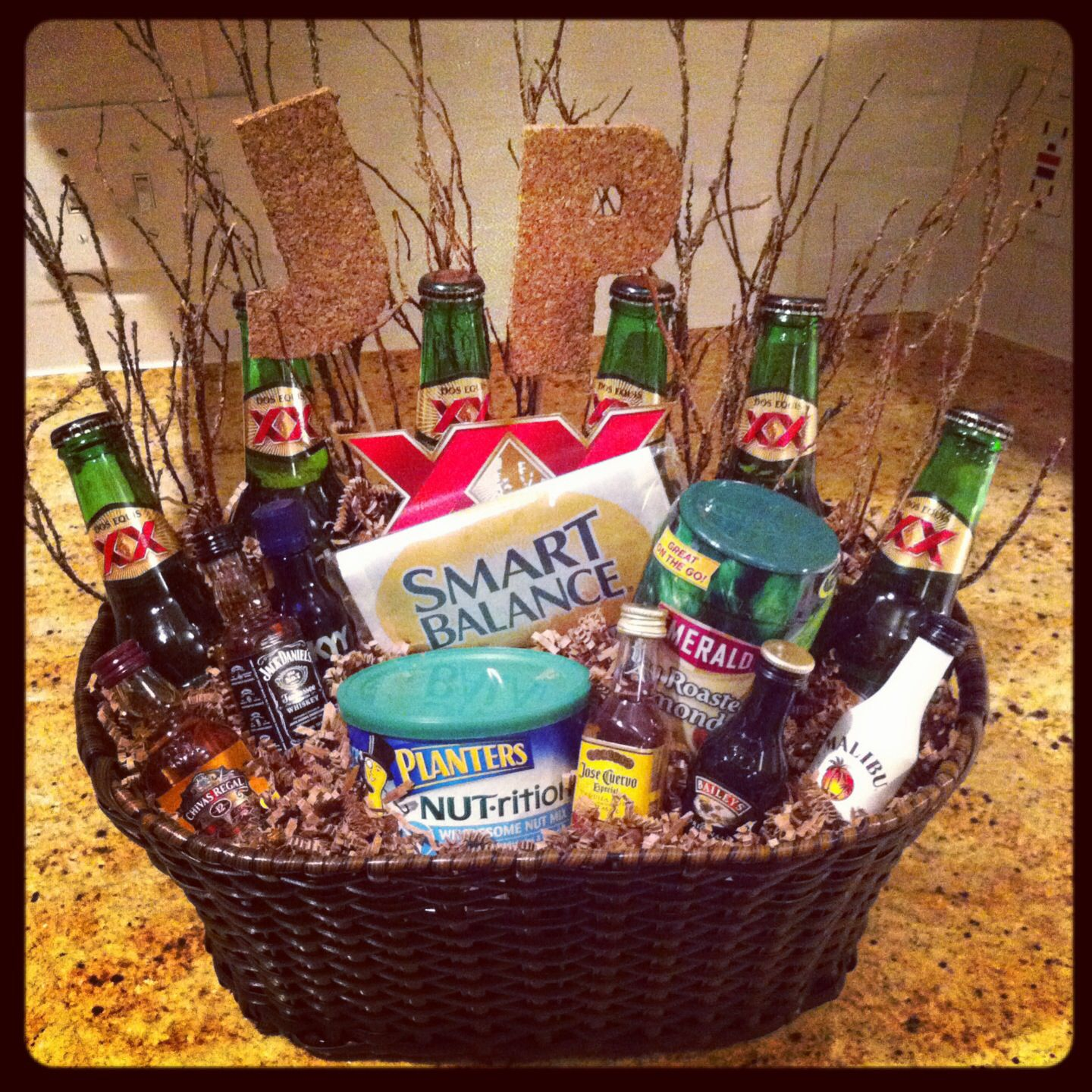 Christmas Gifts For Men South Africa: Male Birthday Gift Basket! Super Easy To Make! Basket And