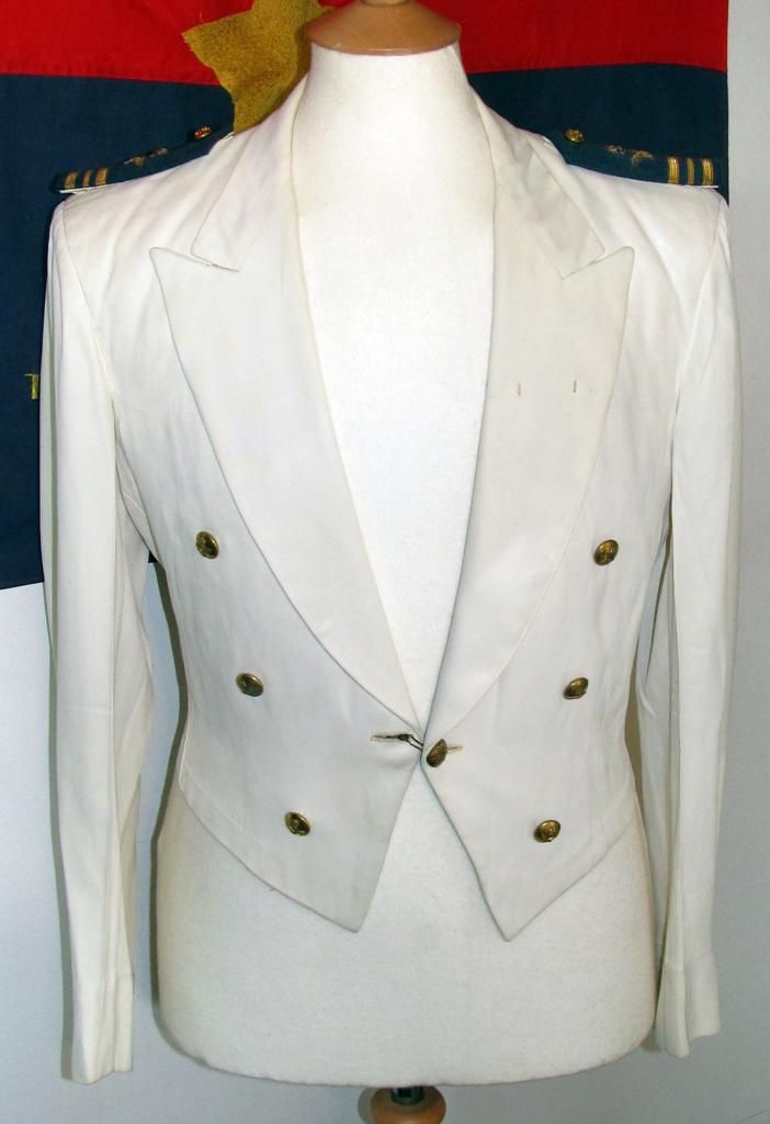 A tropic white mess-dress jacket to a Squadron-Leader, Royal Air Force, c. 1955.