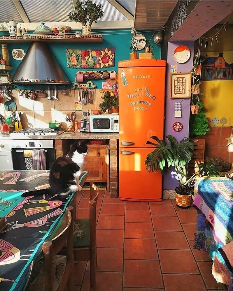 2 023 likes 16 comments p e a c e hippiegypsystyle on instagram this kitchen is the on kitchen decor hippie id=60140