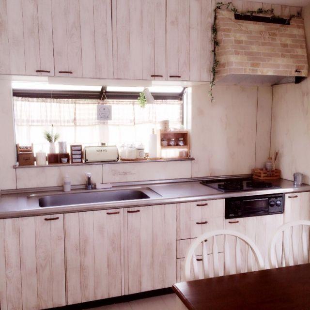 キッチン レンジフードリメイク 壁紙 壁紙屋本舗 かべがみや本舗さん