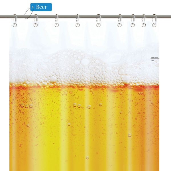 Beer Shower Curtain Extends Beer O Clock In Your Bathroom